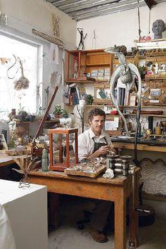 Nic Bladen's studio