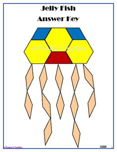 Pattern Blocks Puzzles are a fun and creative way for your students to explore shapes and symmetry. Included are 4 Ocean puzzles; a sting ray, jelly fish, octopus, and a crab.