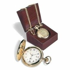 """University of Maryland - Baltimore - Men's 18K Pocket Watch w/ Presentation Box by Alumni Gift. $149.99. Officially Licensed Product. Packaged in a rosewood finished presentation watch box.. CSI has an excellent reputation for producing Beautiful, High Quality products since 1979. 5 Micron 18K gold plated case with 14"""" fob chain. Swiss movement.. Your University Medallion is Proudly Displayed (medallion replaces the """"CSI Globe"""" sample image in the product photo). Univers..."""