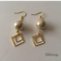 #144 大人パールピアス Diy Earrings, Earrings Handmade, Pearl Earrings, Simple Jewelry, Cute Jewelry, Diy Accessories, Earring Set, Jewerly, Jewelry Design
