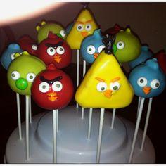 Angry Bird Cake Pops!!