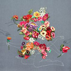 Drawings and embroidery by Ana Teresa Barboza.