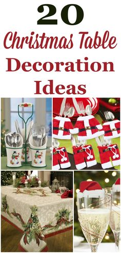 Decorating your table for Christmas dinner can be a lot of fun. Here are 20 Christmas table decoration ideas you can choose from that range from whimsical and fun to more classic and elegant. #ad