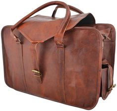 960eec62b250 Real goat leather handmade travel luggage vintage holiday soft strong duffel  bag  fashion  clothing