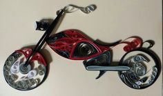 My take on a quilled motorcycle