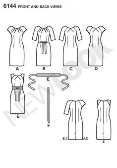 New Look 6144 Misses' Dress Sewing Pattern