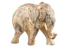 "Asst. of 2 Elephant Objets, Brown on OneKingsLane.com  small, 9.3"" x 4.8"" x 11""; large, 11.8"" x 4.8"" x 14.3"""