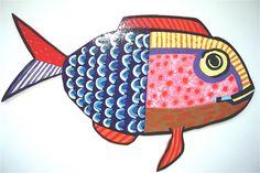 Beach Wall Decor  Whimsical School of Fish  All by barbarashangups, $95.00