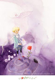 """Le Petit Prince"" illustration de Kim Min Ji, artiste qui vit à Séoul."