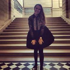 One excited girl #19 #adventcalendar #triprecap #countingdownthedays #5moredays #believemeiamexcited #marylinmonroemoment #flowingdress #sandro