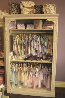 This would be so cute in a little girl's room!  Ohhhh...Dress-Up clothes! Retail Store - Shabby Chic - Display Fixtures - Cases 1 for pet clothes