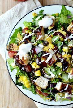 BBQ Chicken Chopped Salad   iowagirleats.com