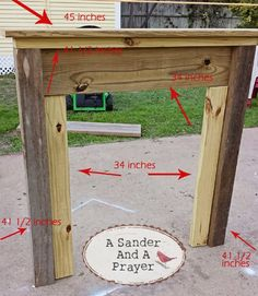 A Sander and A Prayer: Building a Faux Fireplace Mantel