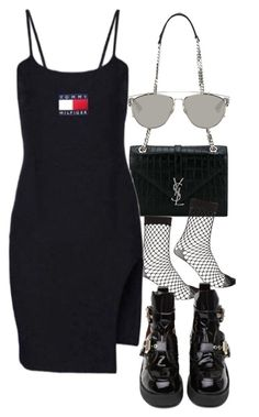 """Untitled #2356"" by mariie00h ❤ liked on Polyvore featuring Yves Saint Laurent, Christian Dior, River Island and Jeffrey Campbell"