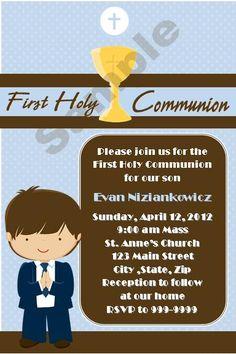 First Communion Boy invitations