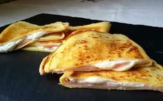 Crepes de jamón y queso light. Receta básica para elaborar crepes caseros en my poco tiempo y sin grasa
