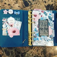 My Ocean Kikki K planner and this month's Planner Society kit are just made for each other!  by suzyplans