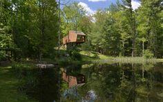 Inhabit Woodstock, maison surélevée en bois par le designer Antony Gibbon - Journal du Design