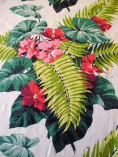 Tropical Barkcloth, circa 1940.