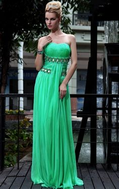 Green Ruched Strapless Chiffon A-line Evening Party Dress 30540 Strapless Cocktail Dresses, Gala Dresses, Prom Dresses Online, Cute Dresses, Strapless Dress Formal, Amazing Dresses, Dresses Uk, Formal Dresses, Gown Pictures