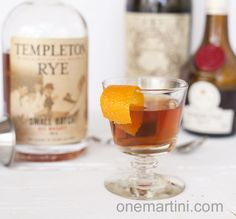 Preakness Cocktail {with Templeton Rye Whiskey} - similar to a Manhattan, but much better in my opinion.