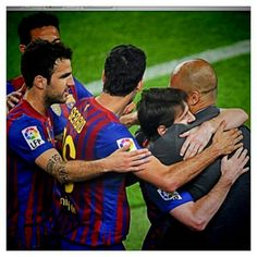 Luis Suarez of FC Barcelona celebrates with is team mate Lionel Messi after scoring his team's eighth goal from the penalty spot during the La Liga match between FC Barcelona and SD Huesca at Camp Nou on September 2018 in Barcelona, Spain. Fc Barcelona, Lionel Messi Barcelona, Rugby League, Rugby Players, Real Madrid, Lionel Messi Family, Australian Football, Rugby Men, Soccer