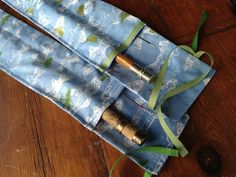 Two custom-printed custom-sewn custom-designed rod bags for rods. Every element from an original drawing. Fishing Rod Sleeves, Fishing Rod Case, Fly Fishing Gear, Fly Fishing Rods, Fishing Stuff, Fly Rods, Crafty Projects, Sewing Projects, Quilt Patterns