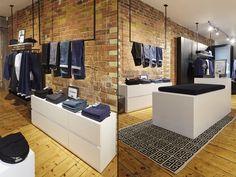 Levi's Line 8 Pop Up Shop on Charlotte Road by FormRoom, London UK pop up denim