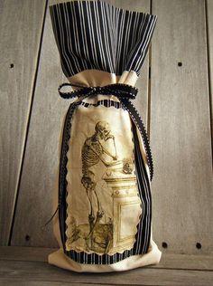 skeleton sensational wine bottle cover