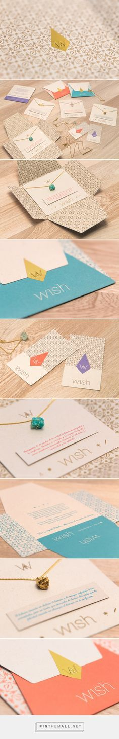 Branding, graphic design and packaging for WISH Diseño by Plasma Nodo Medellín, Colombia curated by Packaging Diva PD. Simple yet great jewelry packaging design.
