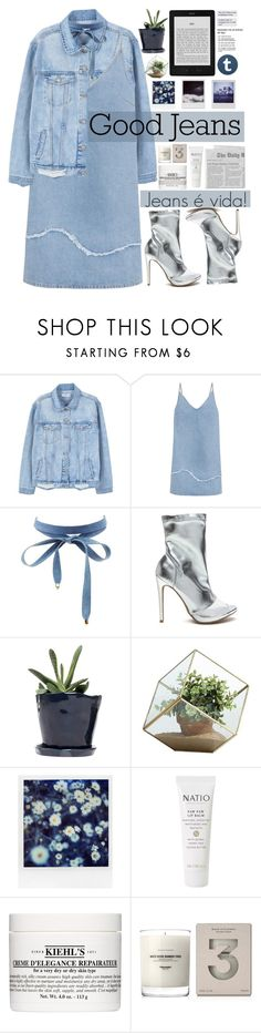 """""""Jeans é vida!"""" by mellquiades ❤ liked on Polyvore featuring MANGO, M.i.h Jeans, Charlotte Russe, Dot & Bo, Danya B, Polaroid, Natio, Kiehl's, Baxter of California and denim"""