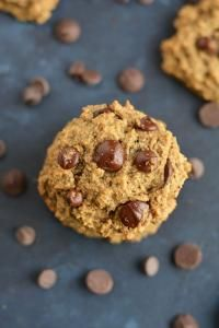 Skinny Chocolate Chip Cookies made lighter & nutritionally balanced, yet just as scrumptiously chewy &delicious as the original recipe. Perfect for healthy snacking | on myrecipemagic.com