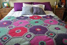 -Fotos de colchas a crochet - Las Manualidades