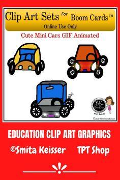 Teacher Clip Arts for Boom Card creations! Car Animation, Education Clipart, Car Gif, Video Clip, Task Cards, Animated Gif, How To Draw Hands, Clip Art, Classroom
