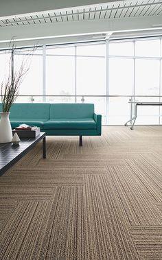 Interface | Modular Carpet Tile | Silver Linings | SL920 Beige Line
