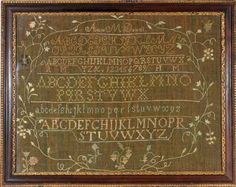 Delaware Valley antique needlework sampler by Anne M. Dowell, c.1810 from Huber