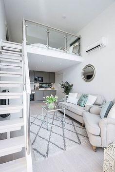 Small Studio Apartment Layout Design Ideas – home design – Hazir Site Studio Apartment Layout, Studio Apartment Decorating, Apartment Interior Design, Studio Layout, Small Apartment Layout, Interior Stairs, Modern Studio Apartment Ideas, Studio Interior, Interior Ideas