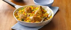 Turn to packaged saffron rice blend for intriguing flavor for this classic Mexican chicken dish, made even easier with frozen mixed vegetables.