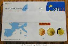 RITTER BRD, Euro Kursmünzensatz KMS 2012 ADFGJ komplett, PP #coins
