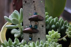Spring 2013 Pyrite Wood and Turquoise Czech Glass by ValkyrieHeart, $18.00