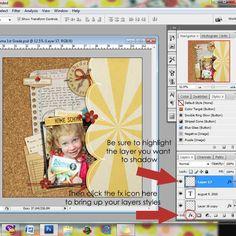 Tutorial | How-To Create Realistic Shadows | Sahlin Studio | Digital Scrapbooking Designs