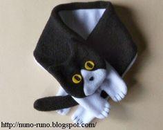 Free kitty scarf pattern