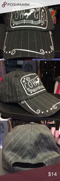 Cowgirl Bling Cap Cowgirl Bling Cap, missing one rhinestone on the C... super cute! Accessories Hats