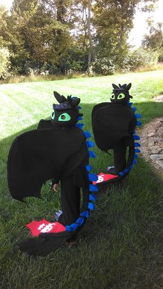 Toothless halloween costumes I made.