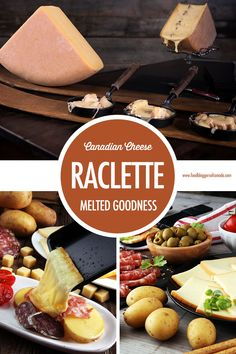 Canadian Cheese: Canadian Raclette - Melted Goodness If you love melted cheese, you'll love raclette. Although it's traditionally Swiss, Canada is producing some very delicious raclette varieties perfect for your next get-together, holiday entertaining o Raclette Party, Raclette Cheese, Cheese Appetizers, Appetizer Recipes, Raclette Ideas Dinner Parties, Canadian Cheese, Canadian Food, Winter Treats