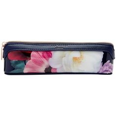 Ted Baker Keela Blushing Bouquet Pencil Case, Navy (€26) ❤ liked on Polyvore featuring home, home decor, office accessories, zipper pencil pouch, ted baker, zipper pencil case and zip pencil case
