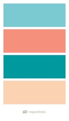 turquoise coral teal and peach wedding color palette custom color palette created