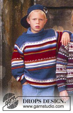 DROPS Children 7-3 - Chandail en Alaska avec rayures - Free pattern by DROPS Design