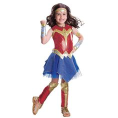 Girls' Wonder Woman Justice League Movie Deluxe Child Costume M(8-10) : Target