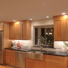 Stainless Steel and Cherry Kitchen Nashua NH
